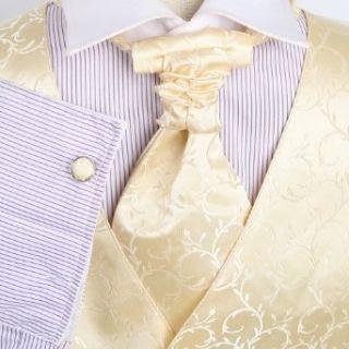 Beige Patterned Formal Vest for Men Good Mens Gift Idea