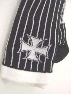 Lucky 13 Gomez Socks Iron Cross Rugby Socks, Rockabilly