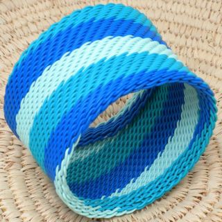 Telephone Wire Aqua Bangle Bracelet (South Africa) Today $11.99