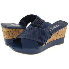 Franco Sarto Gilt Blue Nappa Sandals
