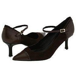 LAUREN Ralph Lauren Tamia Dark Brown Leather/Suede Pumps/Heels