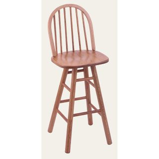 York High Spindle Back 30 inch Counter Swivel Stool with Medium Oak