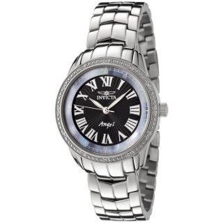 Invicta Womens Angel Stainless Steel White Diamond Watch