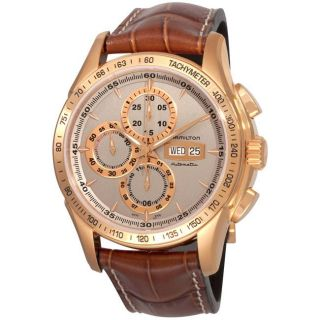 Hamilton Mens Lord Hamilton Pink Gold PVD Chronograph Watch