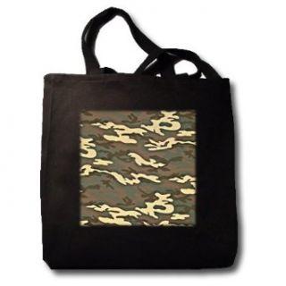 Olive Camouflage   Black Tote Bag JUMBO 20w X 15h X 5d