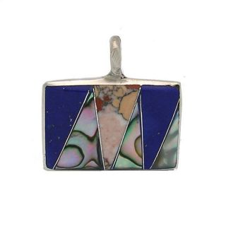 Alpaca Silver Mother of Pearl Square Pendant (Mexico) Today $19.49