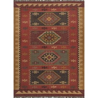 Handmade Flat Weave Tribal Multicolor Jute Rug (2 x 3)