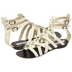 Steve Madden Notionn Gold Leather Sandals