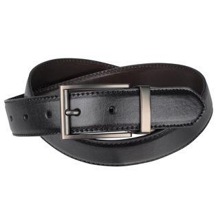 Joseph Abboud Mens Smooth Reversible Leather Belt