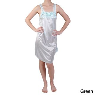 Journee Collection Womens Rosette Detail Satin Nightgown