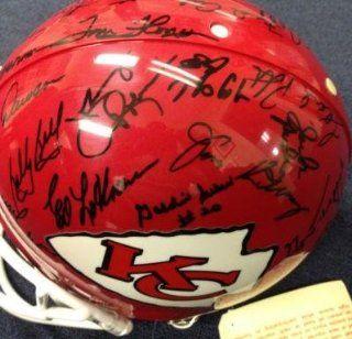 1969 Kansas City Chiefs Superbowl Iv Team Signed Helmet 30