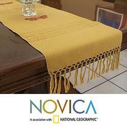 Cotton Butterfly Realm Table Runner (Guatemala)