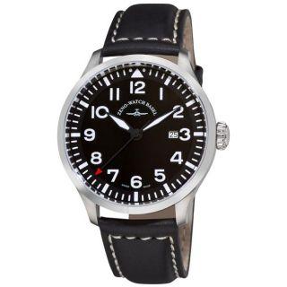 Zeno Mens Navigator NG Black Leather Strap Quartz Watch