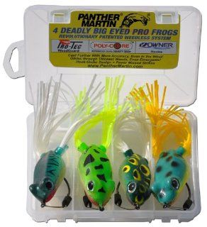 Panther Martin Pro Frog Bass Fishing Lure Kit, Pack of 4