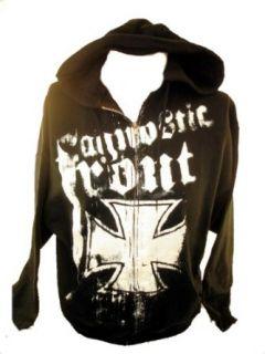 Agnostic Front Mens Hoodie   Iron Cross Logo on Black