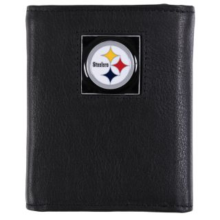 Pittsburgh Steelers Mens NFL Genuine Leather Tri fold Wallet