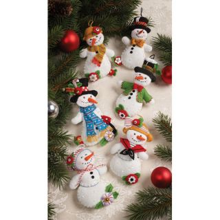 Mary Engelbreit Let It Snowman Ornaments Felt Applique Kit