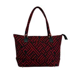 Jenni Chan Black and Red Signature 17 inch Computer Tote