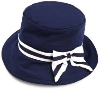 Kate Mack Girls 2 6X Wide Trim Hat, Navy Blue, One Size