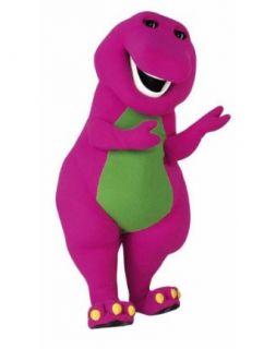 Barney Pink Dragon Cartoon Clothes Mascot Costume Fancy