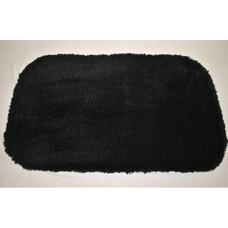Sherry Kline Solid Black Bath Rug (Set of 2)