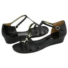 Enzo Angiolini Nine Black Patent Sandals