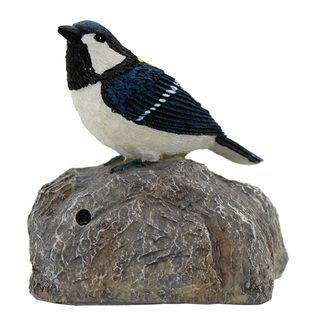 Battery Operated Chirping Blue Bird with Sensor