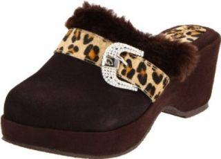Grazie Womens Whimsey Mule,Leopard,5.5 B US Shoes