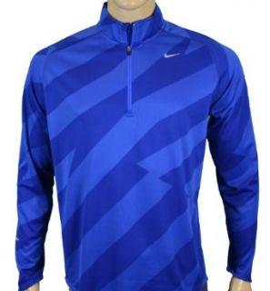 Nike Mens Element Half Zip Running Shirt Jacket Blue