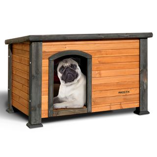 Precision Pe Exreme Ouback Small Solid Wood Log Cabin Doghouse