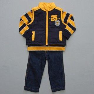 Baby Togs Infant Boys 3 pc Vest Set