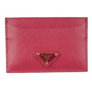 Prada 1M0208 Pink Leather Card Case