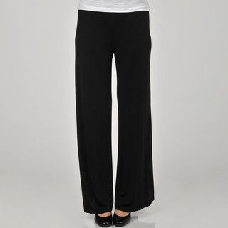 Larry Levine Womens Wide Leg Jersey Knit Pant