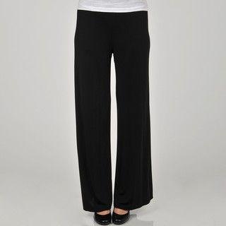 Larry Levine Womens Wide Leg Jersey Knit Pant