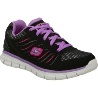 Girls Skechers Synergy Black/Purple