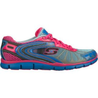 Womens Skechers Gratis Running Wild Blue/Pink