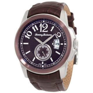 Tommy Bahama Mens Cabo Leather Strap Two tone Watch