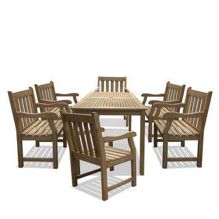 Renaissance 7 piece Table/ Armchair Outdoor Dining Set