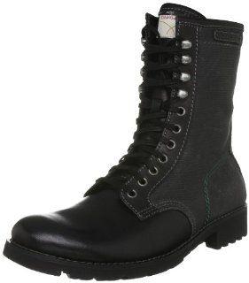 Klein Jeans Trent Buffalo Mens Canvas Boots Black Size 11.5 Shoes