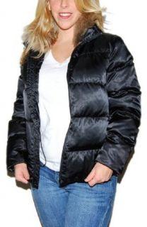 Polo Ralph Lauren Womens Fur Down Puffer Jacket Black