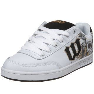 Industries Mens Basic SE Skate Shoe,White/Cross Bones,6.5 M US Shoes