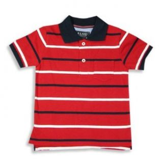 E Land   Boys Short Sleeved Polo Shirt, Red, White 9927 2T