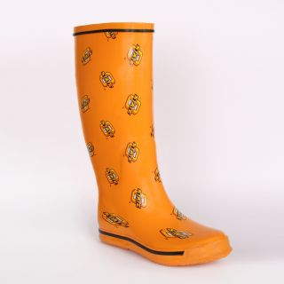 Oklahoma State Cowboys Womens Scattered Logo Rain Boots