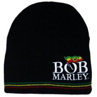 Bob Marley   Rasta Logo Beanie Clothing