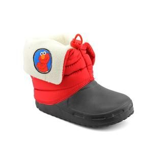 Sesame Street Boys Elmo Boot Fabric Boots