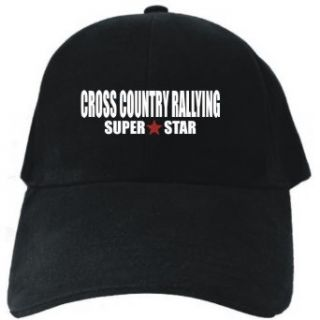 SUPER STAR Cross Country Rallying Black Baseball Cap