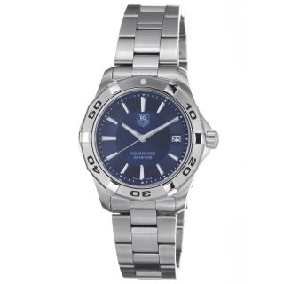Tag Heuer Mens 2000 Aquaracer Blue Dial Stainless Steel Watch