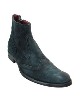 Joe Ghost Mens Italian Leather Blue Suede Boots 2633 Shoes