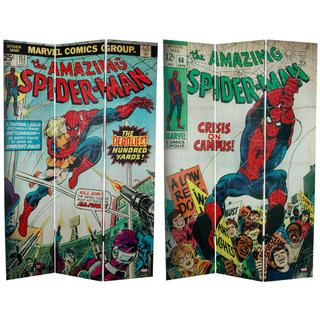 foot Tall Double Sided The Amazing Spider Man Canvas Room Divider