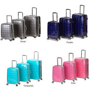 Rockland Elite Designer 3 piece Hardside Spinner Luggage Set